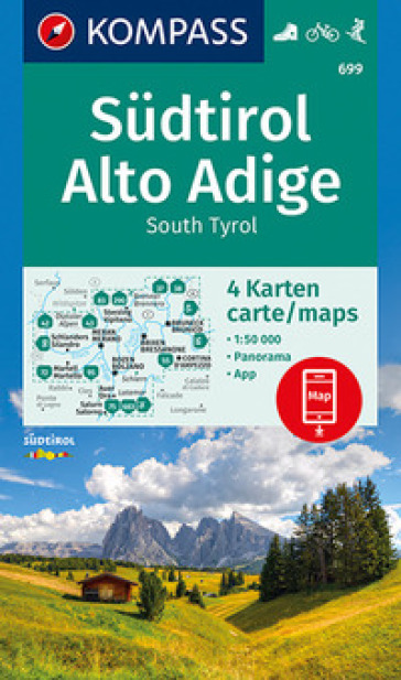 Carta escursionistica n. 699. Alto Adige-South Tyrol-Sudtirol 1:50.000 (set di 4 carte)
