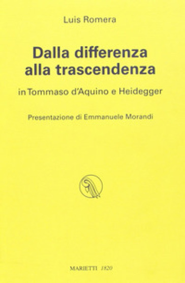 Dalla differenza alla trascendenza in Tommaso d'Aquino e Heidegger