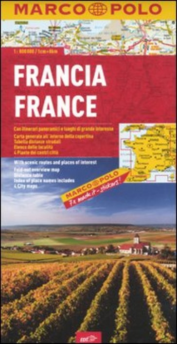 Francia 1:800.000. Ediz. multilingue
