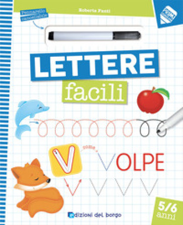 Lettere facili. Con pennarello cancellabile
