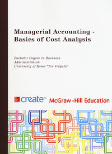 Managerial accounting. Basics of cost analysis