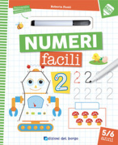Numeri facili. Con pennarello cancellabile