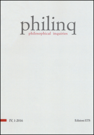 Philinq. Philosophical inquiries (2016). 1.