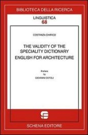 The validity of the speciality dictionary. English for architecture
